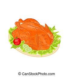 Roasted holiday turkey