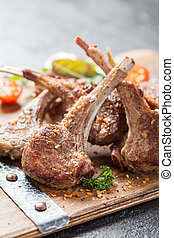 Roasted lamb ribs with
