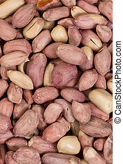 Roasted peanuts in filled frame format