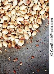 Roasted peanuts.
