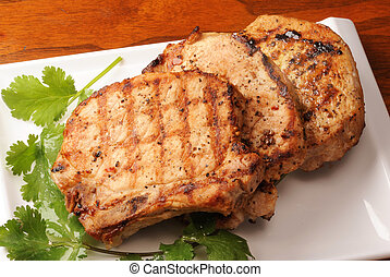 Roasted pork chops - Roasted pork chop.