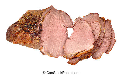 Roasted Prime Silverside Beef Joint - Sliced roast ...