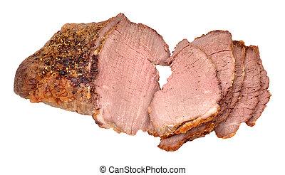 Roasted Prime Silverside Beef Joint - Sliced roast...