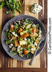 Roasted root and rocket salad - Salad made of roasted...