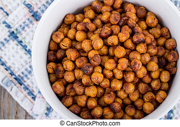 Roasted spicy Seasoned Chick Peas snack - Roasted spicy ...