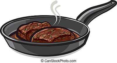 roasted steak