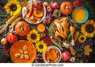 Roasted Thanksgiving Turkey - Thanksgiving dinner. Roasted...