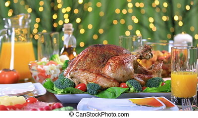 Roasted turkey for celebrating Thanksgiving Day - Roasted...