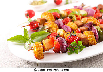 roasted vegetable skewer
