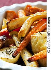 Roasted Vegetables - Roasted vegetables, including carrots,...