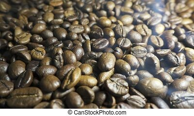 Roasting Coffee Beans.