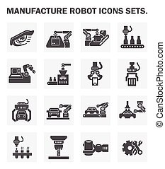robô, ícones