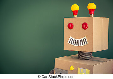 robô brinquedo, em, escola