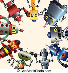 robô, cartão
