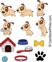 roba, cane, cartone animato