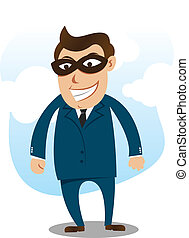 robber wearing suit
