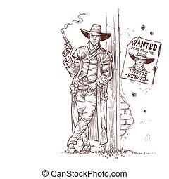Robber with a smoking gun