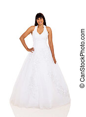 robe, mariage, indien, jeune, mariée