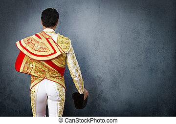 robe, torero, combat, taureau