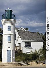 Robert H. Manning Memorial Lighthouse, Michigan, USA.