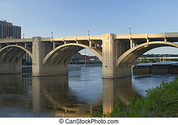 Robert Street Bridge and Barge