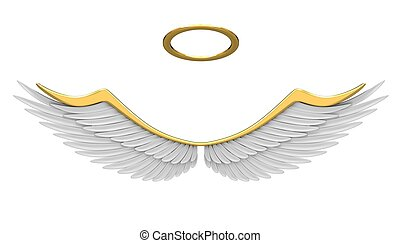 Robes angel isolated on a white background.