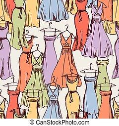 robes, modèle, femme