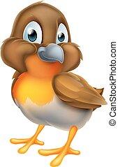 Robin Bird Cartoon Character