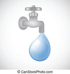 eau plomberie robinet goutte robinet goutte illustration eau fond plomberie blanc. Black Bedroom Furniture Sets. Home Design Ideas