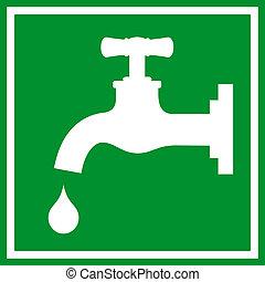 robinet eau, signe