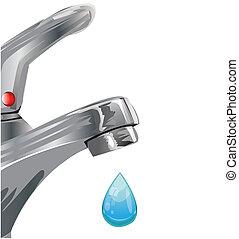 robinet eau, tap.