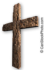 robiony, brickstone, krzyż