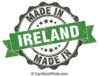 robiony, okrągły, irlandia, znak