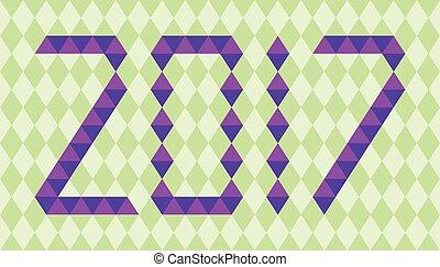 robiony, purpurowy, takty muzyczne, rok, 2017, triangle