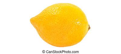 robiony, układ, jadło, concept., lemon., jeden, tło., cytryna, biały, twórczy