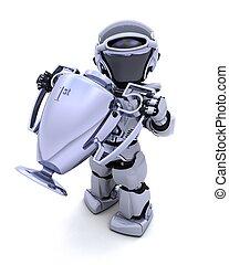 robot, à, a, trophée