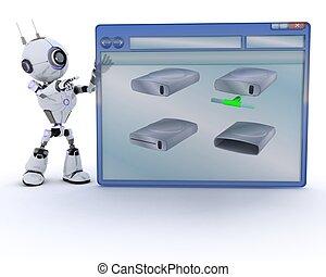Fen tre informatique robot vide render robot fen tre for Fenetre informatique