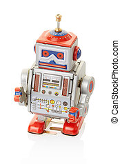 robot, årgång, leksak