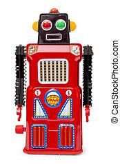 robot, étain, vendange, jouet