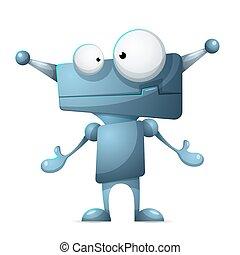 robot., かわいい, 面白い, 漫画, 特徴