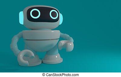 robot., レンダリング, 3d