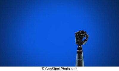 robot, achtergrond, arm, blauwe