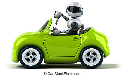 Robot and car
