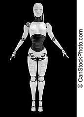robot, androide, mujeres