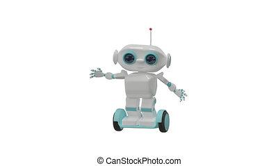 robot, animation, canal, alpha, dessin animé, exercice, 3d