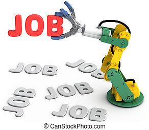 Robot arm find best Technology job