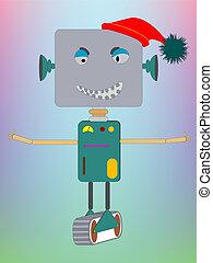 robot asking for a hug
