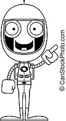 robot, astronaute, idée, dessin animé