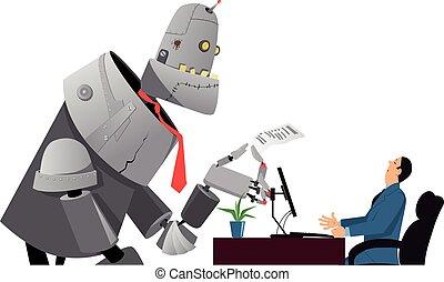 Robot at job interview