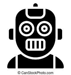 Robot avatar, Halloween costume vector icon